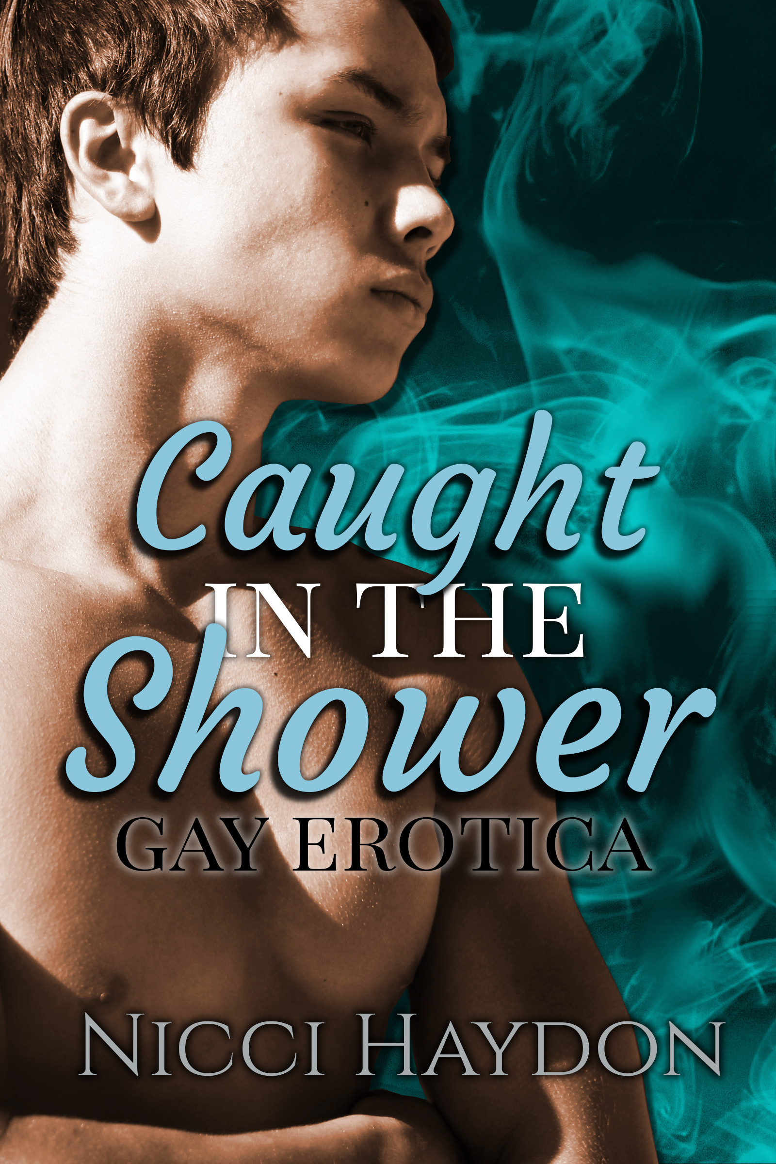 Caught in the Shower - Gay Threesome/First Time Erotica